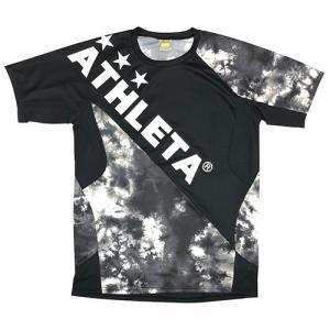 アスレタ ATHLETA ジュニア グラフィックプラシャツ ブラック サッカー フットサル プラクティスシャツ 半袖 練習着 02346J 70|soccershop-players