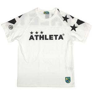 アスレタ ATHLETA ジュニア ビッグロゴTシャツ ホワイト サッカー フットサル 半袖 Tシャツ 03351J 10|soccershop-players