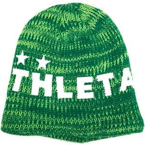 アスレタ ATHLETA ジュニア ウォームニットキャップ Kグリーン サッカー フットサル ニット帽 帽子 05222J 33|soccershop-players
