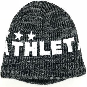 アスレタ ATHLETA ジュニア ウォームニットキャップ ブラック サッカー フットサル ニット帽 帽子 05222J 70|soccershop-players