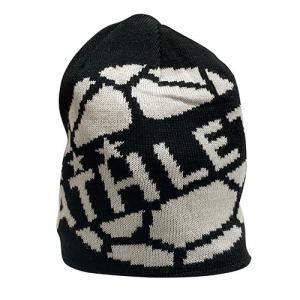 アスレタ ATHLETA ニットキャップ ブラック サッカー フットサル 帽子 ビーニー ニット帽 05264 70|soccershop-players