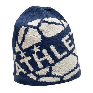 アスレタ ATHLETA ニットキャップ ネイビー サッカー フットサル 帽子 ビーニー ニット帽 05264 90|soccershop-players