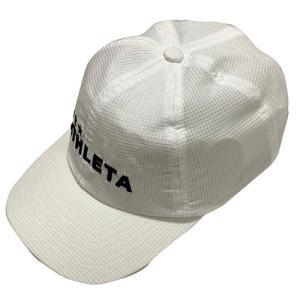 アスレタ ATHLETA コーチングキャップ ホワイト サッカー メッシュ キャップ 帽子 05265 10|soccershop-players