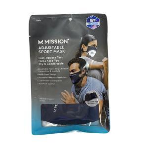 ミッション MISSION アジャスタブル スポーツマスク ネイビー マスク Adjustable Sport Mask 109479 soccershop-players