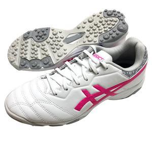 アシックス Asics ジュニア DSライト JR GS TF ホワイト×ピンクグロー トレーニングシューズ サッカーシューズ 1104A015 100|soccershop-players