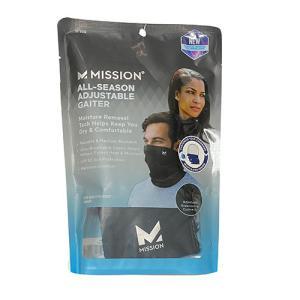 ミッション MISSION アジャスタブル ゲイター ブラック マスク Adjustable Gaiter 1109520 soccershop-players