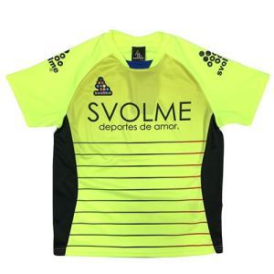 スボルメ SVOLME ジュニア ボーダーTRトップ ライム サッカー フットサル プラクティスシャツ 半袖 練習着 1191 23200 LIME|soccershop-players