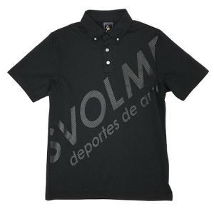 スボルメ SVOLME シャーロゴポロ ブラック サッカー フットサル ポロシャツ 半袖 移動着 1...