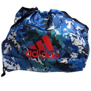 アディダス adidas 日本代表 新型 ボールネット サッカー フットサル ボール入れ 巾着 ブルー ABN02JP|soccershop-players
