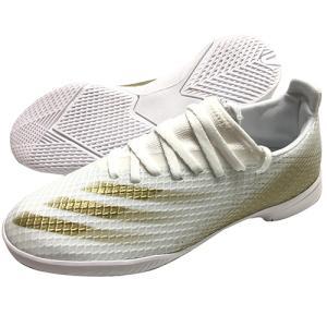 アディダス adidas ジュニア エックス ゴースト.3 IN フットウェアホワイト×メタリックゴールドメランジ フットサルシューズ インドアシューズ EG8225|soccershop-players