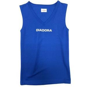 ディアドラ DIADORA ジュニア インナーシャツ ブルー サッカー フットサル ノースリーブ FJ8306 6590 soccershop-players