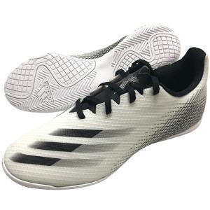 アディダス adidas エックス ゴースト.4 IN フットウェアホワイト×コアブラック フットサルシューズ インドアシューズ FW6797 soccershop-players
