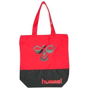 ヒュンメル hummel トートバッグ サッカー フットサル バッグ カバン レッド×ブラック HFB7061 2090|soccershop-players