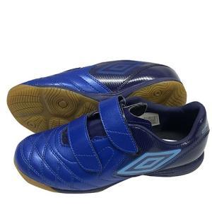 アンブロ UMBRO ジュニア ACR シ―ティー BL JR WIDE IN Nブルー×Mブルー×Bブルー ベルクロ フットサルシューズ UU4OJB06 BB|soccershop-players