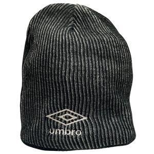 アンブロ UMBRO リバーシブルニットキャップ ブラック サッカー フットサル 帽子 ニットキャップ UUAOJC50 BK|soccershop-players