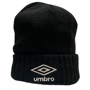 アンブロ UMBRO ベーシックニットキャップ ブラック サッカー フットサル 帽子 ニットキャップ UUAOJC53 BK|soccershop-players