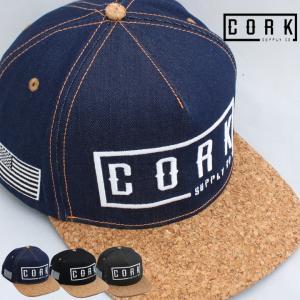 CORK SUPPLY CO コルクサプライ LOGO SNAPBACK ロゴ スナップバック CAP キャップ 帽子 フラットバイザー メンズ レディース スノボ スノーボード 人気|society06