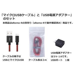 赤&黒 USB電源アダプター USB電源ケーブル セット sRemo-R エスリモアール 利用可|socinno