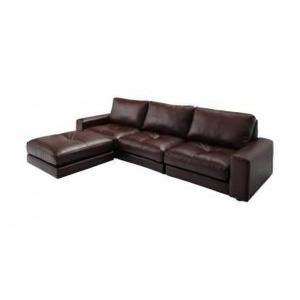 ソファ 三人掛け 合皮レザーソファ 〔3P 幅210cm〕 大型 L字型ソファー|sofa-lukit