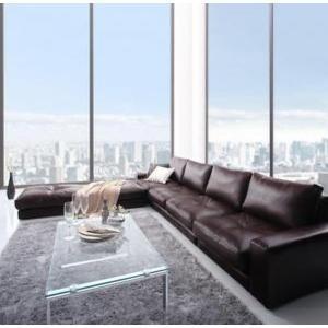 ソファ&オットマンセット 〔4P 幅270cm〕 4人掛け 大型 L字型ソファー|sofa-lukit
