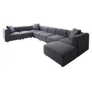 L字 コーナーソファ カウチ 5人掛け 〔5P 幅300cm〕 大型 L字型ソファー|sofa-lukit