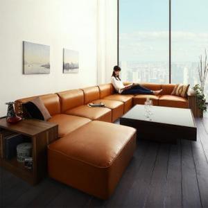 ソファ&サイドテーブルセット L字 コーナーソファ 5人掛け 合皮レザー 〔5P 幅300cm〕 大型 L字型ソファー|sofa-lukit