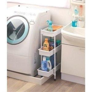 iris_coupon サイドラック 3段 SDR-3 ホワイト ランドリーラック 洗濯機やキッチン...