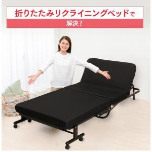 ベッド  シングル 折りたたみ 折りたたみベッド 安い リクライニング 収納 低反発 OTB-TRコンパクト 完成品 折り畳み 布団 寝具|sofort|05