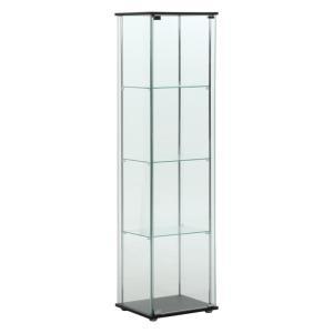 コレクションケース 4段 ガラスケース フィギュア収納 ブラウン 飾り棚 96047  (代引不可)|sofort