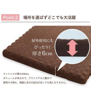 マットレス コンパクト 高反発マルチマットレス 60×180×6cm ブラウン 57500106 (D)|sofort|08