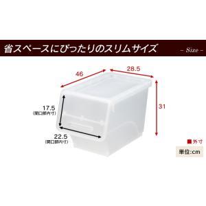 【4個セット】キャスター付き 収納ボックス フタ付き フロック スリム 深型 32L おもちゃ箱 前開き 収納ケース ふた付き プラスチック 重ねる サンカ|sofort|06
