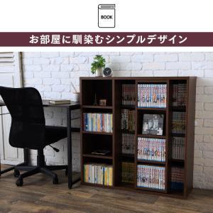 本棚 スライド コミックラック スライド スライドシングル 書棚 収納棚 大容量 コミック 本 収納 CSS-9090 sofort 09