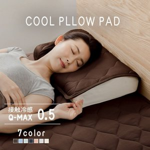 枕パッド ひんやり 枕カバー 接触冷感 ピローパッド 二枚セット QMAX0.5接触冷感65420002・65420005 sofort