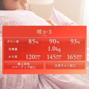 羽毛布団 シングル ロング 掛け布団 冬 暖かい 羽毛ふとん ホワイトダックダウン93% 日本製 抗菌 7年保証|sofort|04