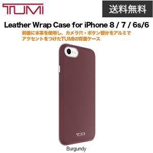 送料無料 TUMI Leather Wrap Case for iPhone 8 / 7 / 6s/6 Burgundy|softbank-selection