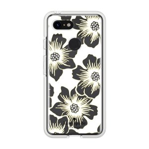 Kate Spade New York Reverse Hollyhock Floral Clear Cream with Stones for Pixel 3|softbank-selection