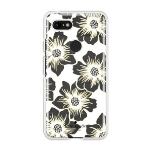 Kate Spade New York Reverse Hollyhock Floral Clear Cream with Stones for Pixel 3 XL|softbank-selection