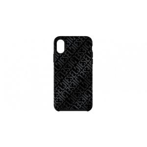 ディーゼル DIESEL iPhone XS X ケース COMOLD CASE Distressed Logo Pattern Black Black Foil DoubleIML|softbank-selection