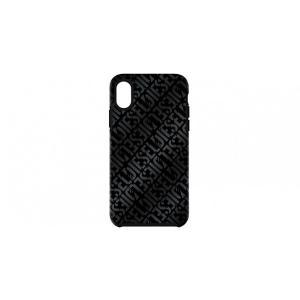 ディーゼル DIESEL iPhone XS Max ケース COMOLD CASE Distressed Logo Pattern Black Black Foil DoubleI ML|softbank-selection