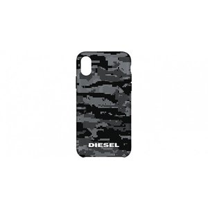 Diesel iPhoneXS iPhoneX ケース DIESEL COMOLD CASE SOFT TOUCH Pixelated Camo Black Translucent Black Translucent Grey Soft Touch Clear|softbank-selection