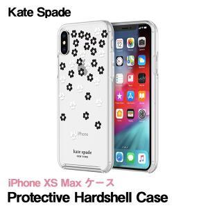 ケイトスペード kate spade iPhone XS Max ケース kate spade new york Protective Hardshell Case Scattered Flowers Black White Gold Gems Clear|softbank-selection