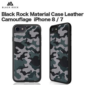 Black Rock Material Case Leather Camouflage iPhone 8 / 7 Black|softbank-selection