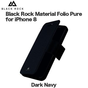 Black Rock Material Folio Pure for iPhone 8 / 7 Dark Navy|softbank-selection