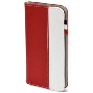 日本トラストテクノロジー BOOK Type for iPhone 7 レッド/ホワイト|softbank-selection