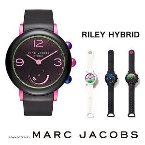 スマートウォッチ MARC JACOBS RILEY HYBRID ブラック×ピンク アルミニウム / ラバー...