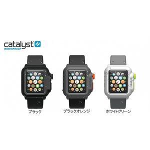 Apple Watch 42mm 防水ケース Catalyst 防水 耐衝撃 ブラックオレンジ|softbank-selection