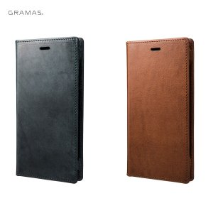 GRAMAS TOIANO Full Leather Case for iPhone X Dark Navy|softbank-selection