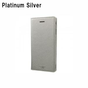GRAMAS COLORS 「Quadrifoglio」 Book PU Leather Case for iPhone 8 / 7 / 6s/6 Platinum Silver|softbank-selection