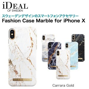 iDEAL OF SWEDEN Fashion Case Marble for iPhone X Carrara Gold|softbank-selection