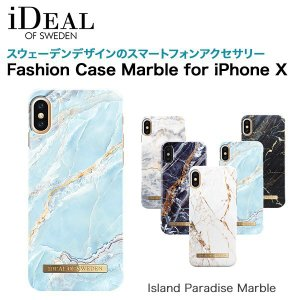 iDEAL OF SWEDEN Fashion Case Marble for iPhone X Island Paradise Marble|softbank-selection